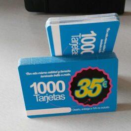 Tarjetas de visita laminadas 300 gr. 2000 unidades